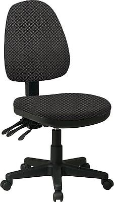 Office Star Custom Ergonomic Armless Chair, Shale