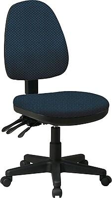 Office Star Custom Ergonomic Armless Chair, Blue Galaxy