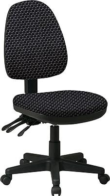 Office Star Custom Ergonomic Ratchet Back Armless Chair, Graphite