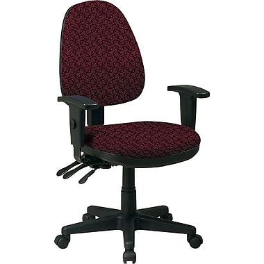 Office Star Custom Ergonomic Chair with Adjustable Arms, Inferno