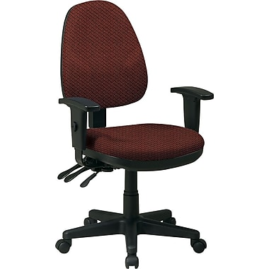 Office Star Custom Ergonomic Chair with Adjustable Arms, Wine