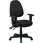 Office Star Custom Ergonomic Chair with Adjustable Arms, Graphite