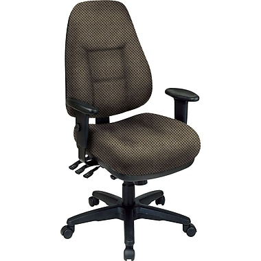 Office Star® Super Ergonomic High-Back Chair, Gold Dust