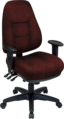 Office Star® Super Ergonomic High-Back Chair, Wine