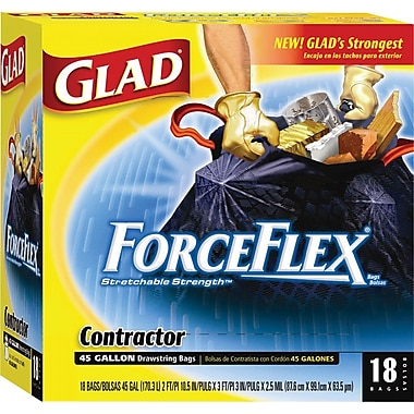 Glad® Forceflex Contractor Drawstring Garbage Bags