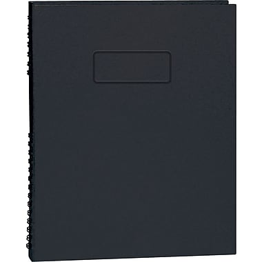 Blueline® – Cahier de notes NotePro à couverture rigide, 9 1/4 po x 7 1/4 po, noir, 192 pages