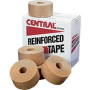 "Staples Central Glass-Reinforced White Sealing Tape, Industrial, 3"" x 375', 8/Case (K7456)"