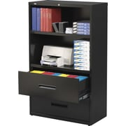 "Hirsh 36"" Wide 2-Drawer, 2-Shelf  Lateral File/Bookcase"