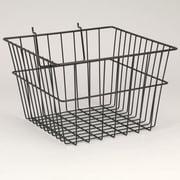 "Slatwall/Gridwall Wire Baskets, 12""W x 12""D x 8""H"