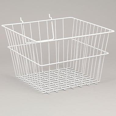 Panier en fil de fer pour panneau à fentes/grillagé, 12 larg. x 12 prof. x 8 haut. po, blanc