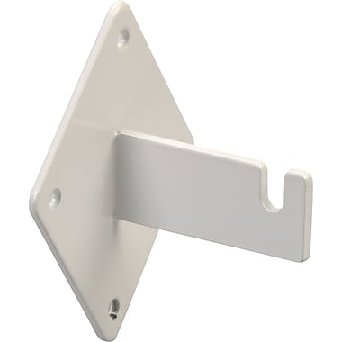 Notched Wall Mount Bracket for Gridwall, White