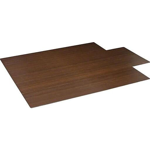 staples 44 x52 roll up bamboo chair mat cherry staples