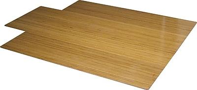 Anji Mountain Standard Bamboo Roll-Up Chairmat, Rectangular, 44