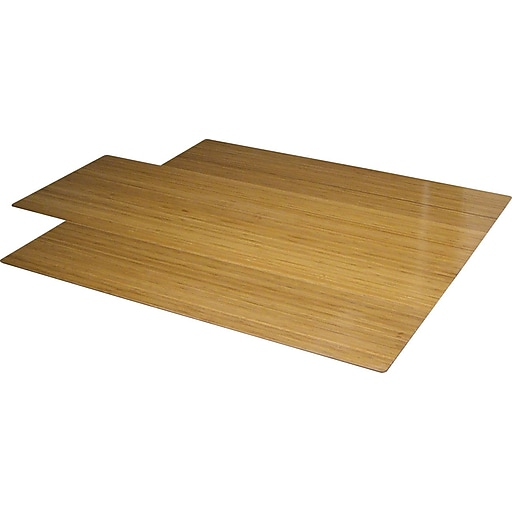 staples 44 x52 roll up bamboo chair mat natural staples