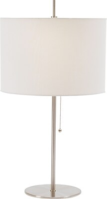 Fangio Incandescent/CFL Table Lamp, Brushed Steel