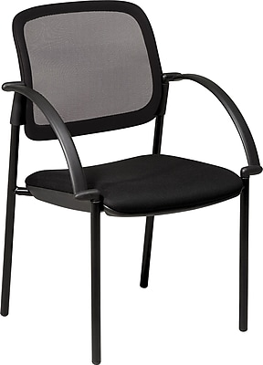 Office Star Screen Back Mesh Guest Chair with Mesh Seat, Seat: 18 1/2