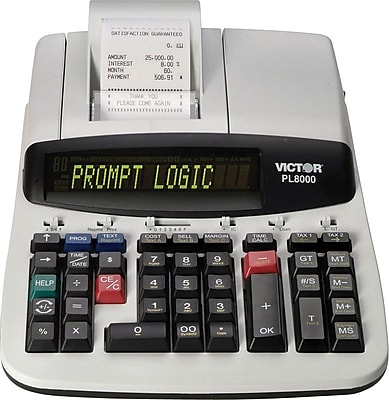Victor® PL8000 Heavy-Duty Commercial Printing Calculator with Prompt Logic™