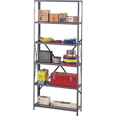Tennsco Industrial Steel Shelves Only, 6 Shelves, Dark Gray, 87