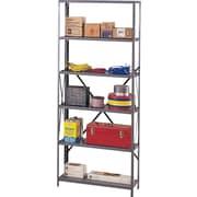 "Tennsco Industrial Steel Shelves Only, 6 Shelves, Dark Gray, 87""H x 48""W x 24""D"