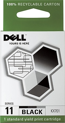 Dell Series 11 Black Ink Cartridge (KX701)
