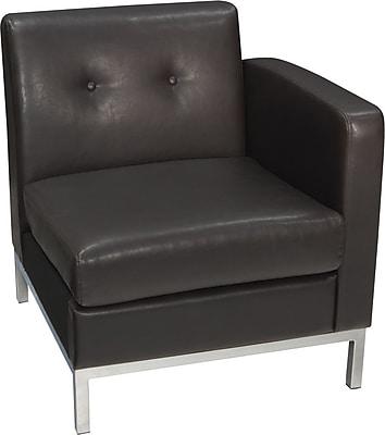 Avenue Six Wall Street Right Arm Facing Chair, Espresso