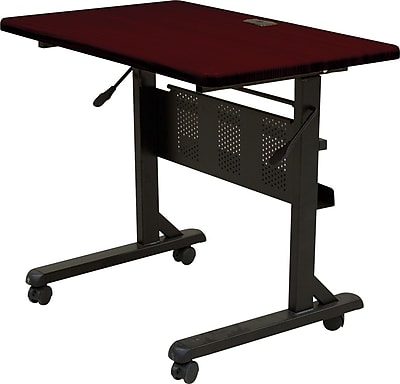 Balt®36'' Rectangular Flip Top Training Table, Mahogany (89876)