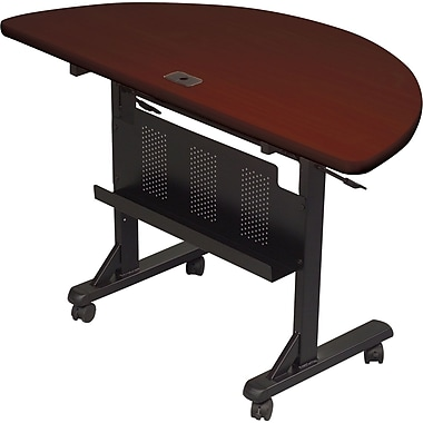 Balt®48'' Semi-Circle Flip Top Training Table, Mahogany (89877)