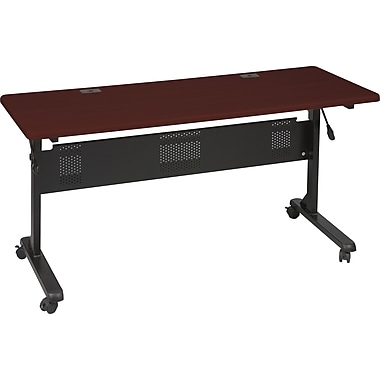 Balt 60'' Rectangular Flip Top Training Table, Mahogany (89879)