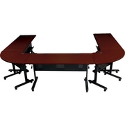 Balt®72'' Trapezoid Flip Top Training Table, Mahogany (89880)