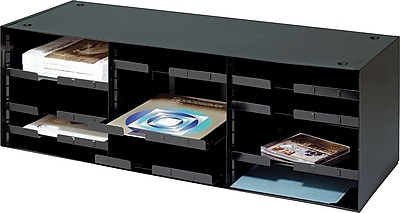 STEELMASTER® Sorting and Distribution Rack, 12 Compartments, Black (20633SRBK)