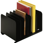 SteelMaster® Adjustable Black Steel  Book Rack