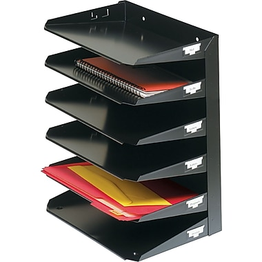 SteelMaster® Letter-Size Metal Horizontal Organizer, 6 Tiers