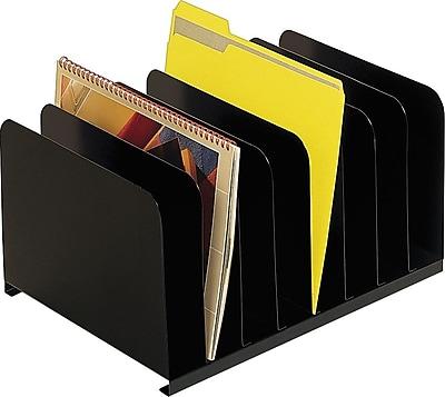 SteelMaster® Steel Vertical Organizer, 8 Compartments, Black