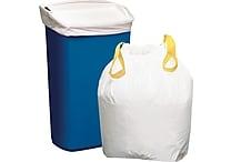 Brighton Professional™ Trash Bags, Drawstring, White, 13 Gallon, 50 Bags/Box