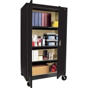 "Sandusky Large Mobile Storage Cabinet, 60""H x 36""W x 24""D, Black"