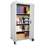"Sandusky® Steel Mobile Storage Cabinet, Assembled, 66Hx36Wx24D"", Gray"