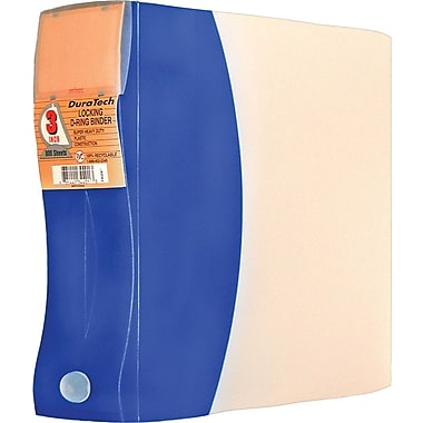 Storex DuraTech Plastic Frosted D-Ring Binder, 3