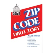 "Dome Zip Code Directory, Abridged, 750 Pages, 4 3/8"" x 7"""