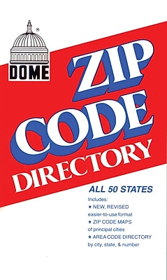 Dome Zip Code Directory, Abridged, 750 Pages, 4 3/8