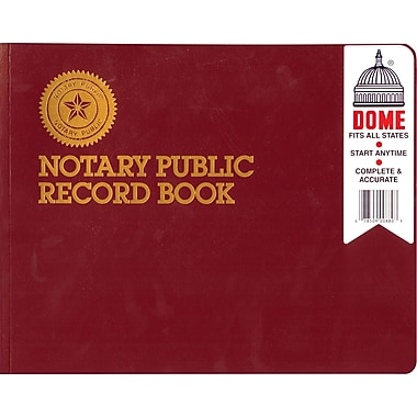 Dome® Notary Public Record Book