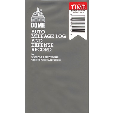 Dome® Auto Mileage Log & Expense Record