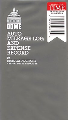 Dome® Auto Mileage Log & Expense Record