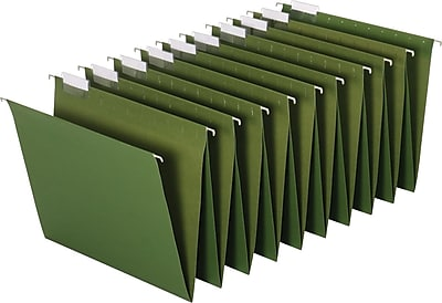 Staples® Hanging Accordion Folders, 5-Tab, Letter, Standard Green, 2 Sets/Pack (15314GW)