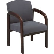 Office Star™ Wood Guest Chair, Espresso Finish Wood with Graphite Fabric