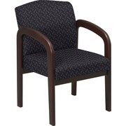 Office Star™ Custom  Wood Guest Chair, Espresso Finish Wood with Ash Fabric