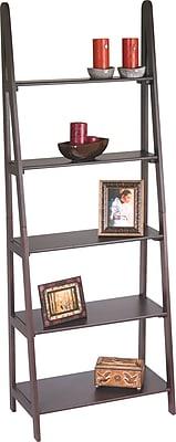Office Star Wood Ladder Wall Bookcase, Espresso