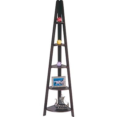 Office Star Wood Ladder Bookcase, Espresso