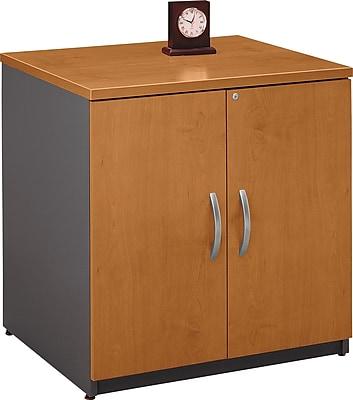 Bush Business Furniture Westfield 30W Storage Cabinet, Natural Cherry (WC72496A)