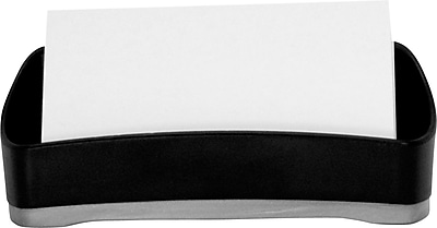 Storex Durable Plastic Business Card Holder, 1.75