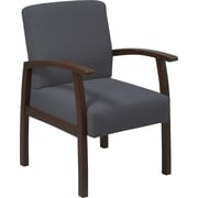 Office Star™ Graphite Fabric with Espresso Finish Wood Guest Chair